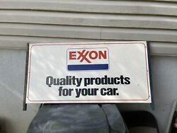 Exxon Quality Products For Your Car Double Sided Sign With Bracket