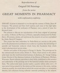 A History Of Pharmacy In Pictures Robert Thom Parke-davis Set Of 40 From 1957