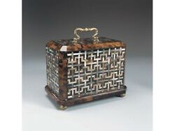 Maitland Smith 1100-133 Penshell And Mother Of Pearl Blind Fretwork Inlay Box