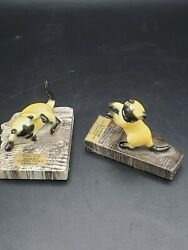 Lot Of 2 Vtg Gingko Petrified Forests Souvenir Spruce With Hagen Renaker Cats