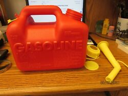 Sears Craftsman 1 Gallon + 6oz Vented Gas Fuel Can And Spout 33624 Chilton P10 Usa