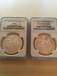 2010 P Boy Scouts Commemorative Silver Ngc Ms-70 And Pf-70 Ultra Cameo 2-coin Set
