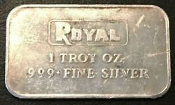 Royal Silver Bar Made By Engelhard 1 Oz 999 Fine Silver Rare And Low Production