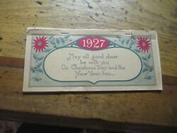 1927 Peters Shoes Calendar Pad All Pages Present Christmas Greeting On Front32