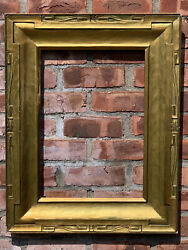 C1910 J H Miller Carved Gold Gilded Taos Style Antique Picture Frame. 20 X 14