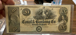 Lrm8320 - Canal And Banking Co Note New Orleans 20 Dollars