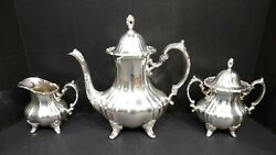 Lancaster Rose By Poole Vintage Tea Silver-plated Service Epca 400