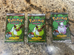 1999 Pokemon 1st Edition Jungle Booster Packs Factory Sealed 3packs 🔥heavy 🔥