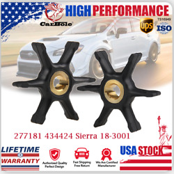 2x Water Pump Impeller Replace For Johnson Evinrude 277181 434424 Sierra 18-3001