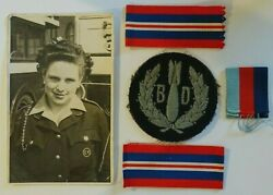 British Military Cap Badge, Raf Bomb Disposal Section Sleeve Patch Ww2