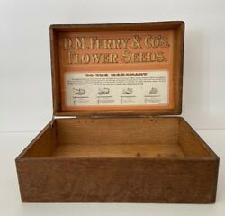 Antique D.m.ferry And Co's Flower Seeds Oak Display Box Advertising General Store