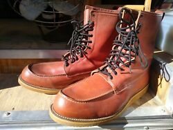 Original 1950and039s Red Wing Toe Irish Setter Boots Nos Usa Sz. 20d Huge 08746