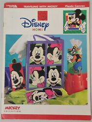Disney Traveling With Mickey Plastic Canvas Pattern Book Tote Tissue Cover