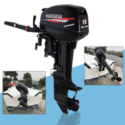 18hp Outboard Motor Engine Fishing Boat W/ Water Cooling System Cdi 2 Stroke Usa