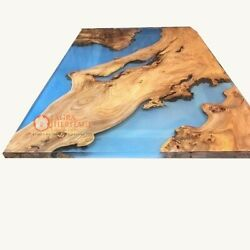 Epoxy River Acacia Wood Dining Coffee Table Personalized Gift For Men And Women