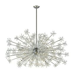Thirty Light Orb Chandelier With Faceted Crystal Beads Polished Chrome Finish