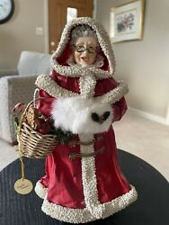 1990 Mrs. Claus, Red Coat Clothtique By Possible Dreams No 713078