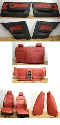 Front Rear Seats And Interior Door Panels Oem Bmw E82 Coral Red Sport Heated