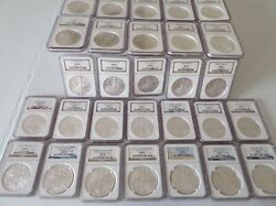Coins Dollars 51 American Eagles Ngc Graded Lot Ms69 1986 Thru 2021 T-1 /t2