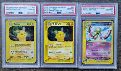 Pokemon Graded Cards Lot 6 Cards All Skyridge Psa 10's Japanese And English