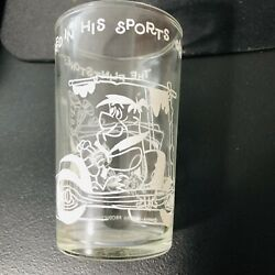 The Flintstones 1962 Welchand039s Jelly Juice Jar Glass White Fred In His Sports Car