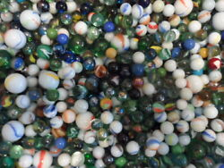 Large Lot Of Vintage Marbles Most In Great Condition 1000 Plus 6.2 Kg