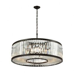 Eleven Light Chandelier  Oil Rubbed Bronze Finish With Clear Crystal - Pendants