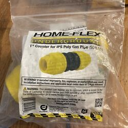 Home-flex 18-429-010 1 In. Yellow Underground Coupler For Ips Poly Gas Pipe