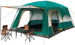 Ygy Camping Tent 2 Room Large Space For 3-6 People Weatherprooffor Outdoors X
