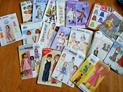 Lot Of 19 Childrenand039s Clothing Patterns Size 2-5 - Most Are New Uncut