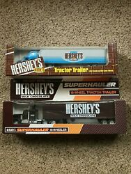 Lot Of 2 Hershey's Toy Tractor Trailers Ertl 100th Anniversary And Hartoy