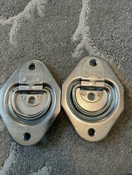 Mackie Ent Inc Recessed D-ring Tiedowns 1200 Lb Cap. Tie Down - 2 New