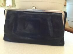 Hobo International Black Leather Wallet PERFECT SIZE $40.00