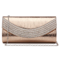 Dasein Womens Small Evening Clutches Purse Party Bags with Dazzling Crystal Trim $18.40