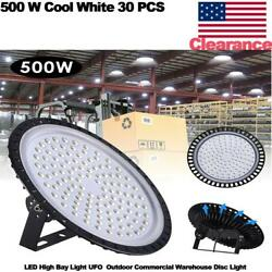 30pcs 500w Led High Bay Light Ufo Outdoor Commercial Warehouse Disc Light
