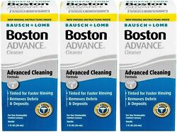 Advance Cleaner Contact Lens Boston Gas Permeable Contact Lenses 1oz 3 Pack