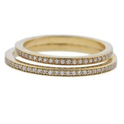 New Georg Jensen 18k Yellow Gold Double Pave Halo Ring 1633 A