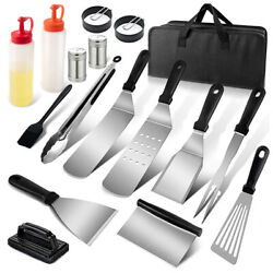 17pcs Griddle Tools Barbecue Diy Grill Griddle Scraper Bbq Camp Chef Cooking Set