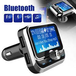 Wireless Bluetooth Fm Transmitter Car Dual Usb Charger Hands Free Mp3 Player
