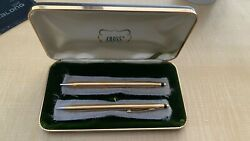 Cross 14k Solid Gold Vintage Ball Pen And Pencil Set - New In Box Luxury Set