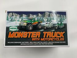 2007 Hess Truck   Monster Truck With Motorcycles   New In Box   Great Condition