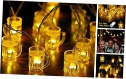 Party Cups String Lights, Mini Shot Cups Fairy Light 3.28 Feet Beer Cup Style