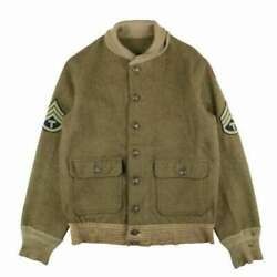 Us Army Air Force 30s Vintage A-1 Wool Jacket Color Olive Men's Outerwear Winter