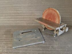 Vintage Rockwell Delta Homecraft Disc Sander W Mounting Plate And Hardware