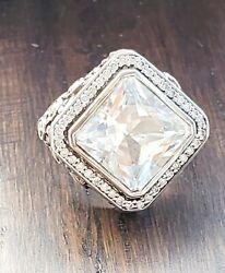 Fabulous John Hardy White Topaz And Diamond Ring So Pretty With Jh Pouch