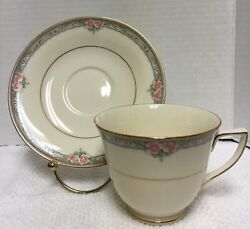 Mikasa Japan Fine Ivory La Rose Lac75 Cup And Saucer New Vintage