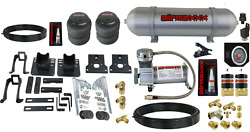 Air Helper Spring Over Load Kit Blk Gauge And Alum Tank For 2005-10 Ford F250 2wd