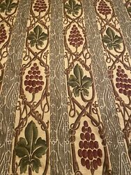 Clarence House Chardonnay Fabric Large Scale Grapes And Vines 9 Yds Estate Find