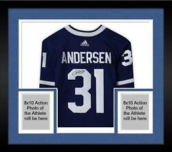 Frmd Frederik Andersen Toronto Maple Leafs Signed Blue Adidas Authentic Jersey