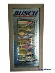 Rare Anheuser Busch Beer Wildlife Mirror, Fish Excellent, 2001. Fast Shipping